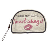 Mona B Upcycled Small Make Up Cosmetic Bag Storage Pouch Take My Advice