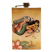 Bottoms Up Mermaid Flask