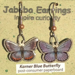 Karner Blue Butterfly Earrings 416B