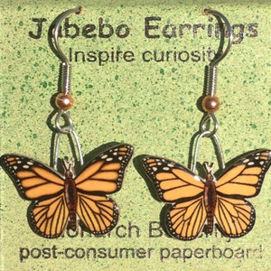 Monarch Butterfly Earrings - Jabebo 425Z