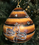 Bee Handcarved Gourd Ornament