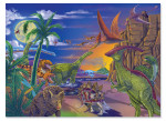 Melissa and Doug - Land of Dinosaurs Jigsaw Puzzle - 60 Pieces