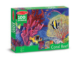 Melissa and Doug - Coral Reef Cardboard Jigsaw - 100 Pieces