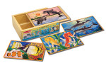Melissa and Doug - Sea Life Jigsaw Puzzles in a Box