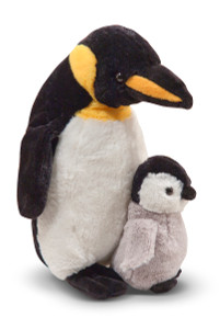 Melissa and Doug - Webber Penguin with Baby Chick Stuffed Animal