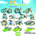 14 in 1 Educational Solar Robot Kit - Transforming Robot Kit OWI-MSK615