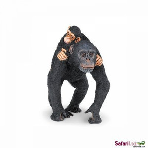 Safari - Chimpanzee with Baby Replica