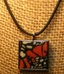 Monarch Butterfly Square Pendant