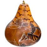 Moose Handcarved Gourd Ornament