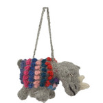 Rhino Alpaca Hand Knitted Ornament