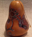 Lucuma Designs - Whimsy Butterflies Gourd Ornament CRG307N-3