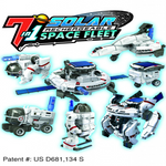 Solar Space Fleet Solar Science Kit & Model Building Kit OWI-MSK641