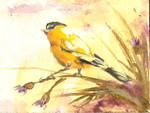 Goldfinch Oil Painting: Ornament / Mini Wall Hanging