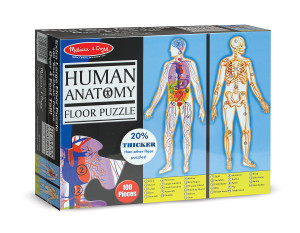Melissa and Doug -Human Anatomy Floor Puzzle - Double-Sided - 100 Pieces