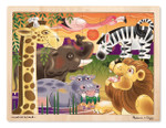 Melissa and Doug - African Plains Wooden Jigsaw Puzzle - 24 Pieces