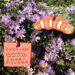 Terracotta Caterpillar Garden Tag/Ornament Set