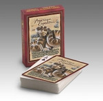 Our Playing Cards are poker-sized decks with standard playing card faces and a full-color wildlife illustration on the back of each card. Interesting wildlife information is featured on the back of each deck's box.