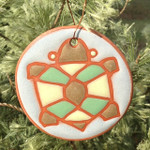 Terracotta Round Turtle Ornament/Garden Tag