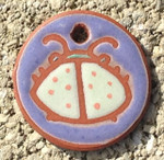 Terracotta Beetle Ornament/Garden Tag