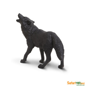 Safari - North American Wildlife Black Wolf Replica 181129