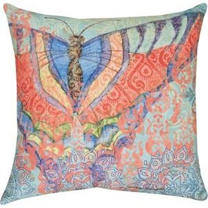 Boho Moth Indoor Outdoor Pillow