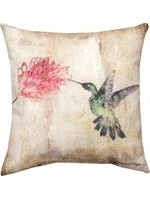 Manual Woodworkers Hummingbird Floral Pillow