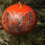 Butterfly Mini Gourd Ornament