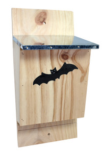 Wildlife Bat Box, Pine with Black Roof  10430