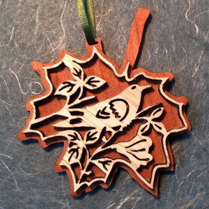 Hand-Crafted Songbird Christmas Ornament