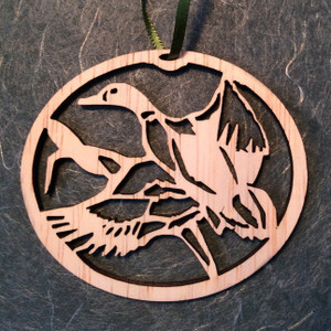 Hand-Crafted Duck in Flight Christmas Ornament