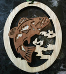 Hand-Crafted Bass Two-Tone Christmas Ornament