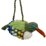 Hummingbird Hand-Knitted Christmas Ornament