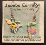 Rusty Patched Bumblebee Earrings