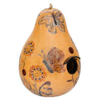 Whimsy Butterflies - Small - Gourd Birdhouse