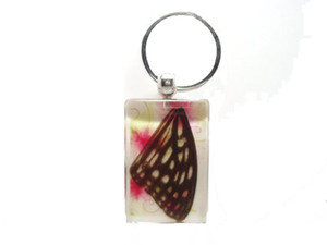 Butterfly Keychain - Red Ring Skirt - KCK01