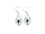 Black Scorpion Earrings - Real Scorpion Jewelry  EHA1BSE