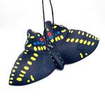Black Swallowtail Butterfly Balsa Ornament | Handmade (BAL-BSW)