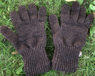 Brown Wool Gloves