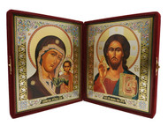 Mother of God of Kazan and Christ Diptych
