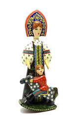 Alyonushka and Ivanushka  Wood Figure