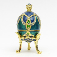 "Mini Royal Aqua Egg Box with Crown [2½""]"