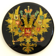 Russian Lacquer Double-Headed Eagle Pin [Hand Painted]