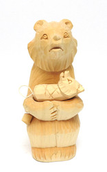 Mother Bear and Cub (Мать и Медвежонок) Bogorodsk Carving