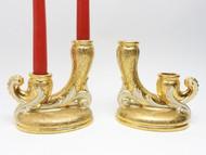 Golden Porcelain Candle Sticks - IRAA