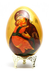 Virgin of Vladimir Easter Icon Egg