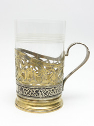 Niello over Copper Tea Glass Holder
