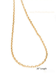 Gold Plated Silver 20 inch Chain