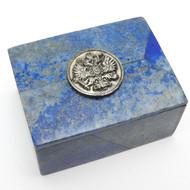 Lapis Lazuli Genuine Stone Keepsake Box