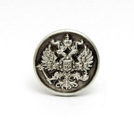 Russian Double Headed Eagle Pewter Lapel Pin