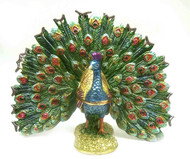 Fan Tail Peacock Jewelry Box